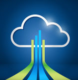 Cloud computing network connections illustration Royalty Free Stock Image