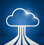 Cloud computing network connections illustration Royalty Free Stock Photography