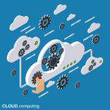 Cloud computing, network, data processing vector concept Stock Images