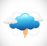 Cloud computing network diagram illustration Royalty Free Stock Photo