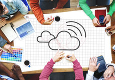 Cloud Computing Network Digital Information Concept Stock Photo