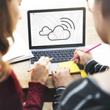 Cloud Computing Network Digital Information Concept Stock Images