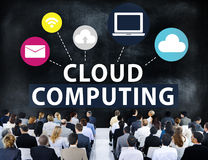 Cloud Computing Network Online Internet Storage Concept Stock Photos