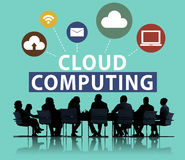 Cloud Computing Network Online Internet Storage Concept Royalty Free Stock Photography