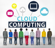Cloud Computing Network Online Internet Storage Concept.  Royalty Free Stock Photos