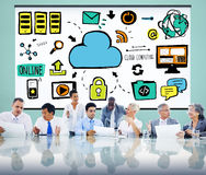 Cloud Computing Network Online Internet Storage Concept Royalty Free Stock Photos