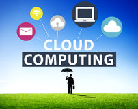 Cloud Computing Network Online Internet Storage Concept Stock Images