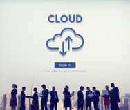Cloud Computing Network Storage Technology Data Concept Royalty Free Stock Images