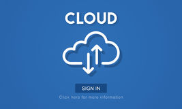 Cloud Computing Network Storage Technology Data Concept Royalty Free Stock Photos