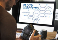 Cloud Computing Network Technology Concept royalty free stock images