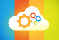 Cloud computing. Illustration great for web,print or applications stock illustration