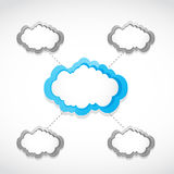 Cloud computing networking concept Royalty Free Stock Photo