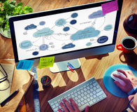 Cloud Computing Networking Connecting Concept Royalty Free Stock Image