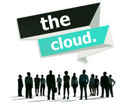The Cloud Computing Networking Storage Concept Royalty Free Stock Image