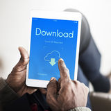 Cloud Computing Networking Upload Download Data Concept Royalty Free Stock Image