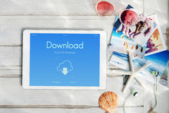 Cloud Computing Networking Upload Download Data Concept Stock Image