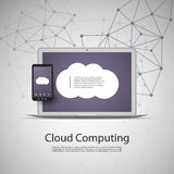 Cloud Computing and Networks Concept with Laptop Stock Photos