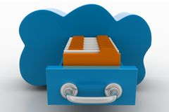 Cloud Computing With Office Files Stock Image