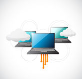Cloud computing online connection illustration Royalty Free Stock Images