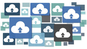 Cloud Computing Online Data Media Storage Network Concepts.  Royalty Free Stock Image