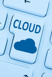 Cloud computing online internet save data cyberspace computer Stock Photography