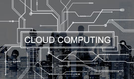 Cloud Computing Online Technology Circuit Board Concept Stock Image