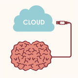 Cloud computing. Over white   background vector illustration Royalty Free Stock Images