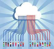 Cloud computing people communication Royalty Free Stock Images