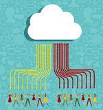 Cloud computing people concept Royalty Free Stock Photos