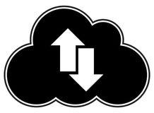 Cloud Computing-Pfeile silhouettieren stockfoto