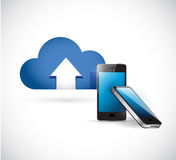 Cloud computing and phone. connection concept Stock Photos