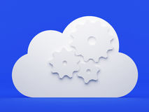 Cloud computing, preferences Stock Photography