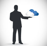 Cloud computing presentation design Stock Images