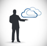 Cloud computing presentation illustration design Stock Image