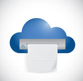 Cloud computing printer cloud illustration design Royalty Free Stock Images