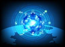 Cloud computing process data Royalty Free Stock Photos