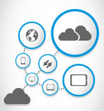 Cloud computing process group Stock Photography