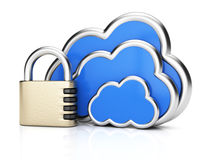 Cloud computing protection Royalty Free Stock Photography