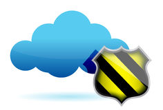 Cloud computing protection illustration Royalty Free Stock Photos