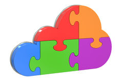 Cloud computing from puzzles Royalty Free Stock Photo