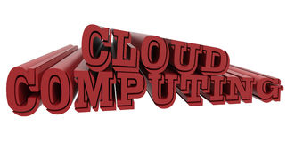 Cloud computing red logo Stock Photography