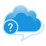 Cloud, computing, reference; information; service illustration. Royalty Free Stock Photography