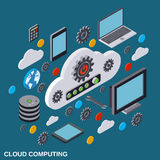 Cloud computing, remote control, cloud data storage vector concept Royalty Free Stock Photo