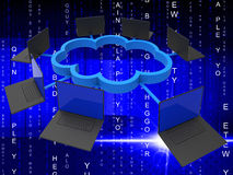 Cloud Computing Represents Lan Network And Communicate Stock Images