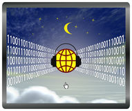 Cloud computing at risk Royalty Free Stock Images
