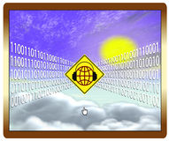 Cloud computing at risk Royalty Free Stock Image