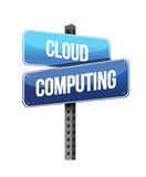 Cloud computing road sign Stock Photo