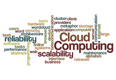 Cloud computing scalability reliability background Stock Images