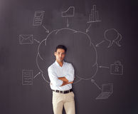 Cloud computing schema Stock Image