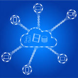 Cloud computing scheme concept Royalty Free Stock Images